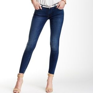 HUDSON Krista Raw Hem Super Skinny Ankle Jean 25